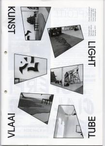 cover Tubeligth, Kunstvlaai, mei 2014