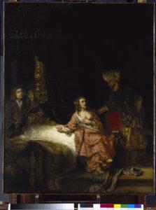 De late rembrandt de vrouw van Potifar staatlichte Museen zu Berlin