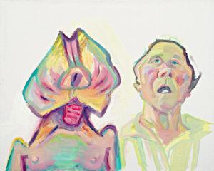 Maria Lassnig, Zwei Arten zu sein (Doppelselbstporträt), 2000 Öl auf Leinwand Foto: UMJ / N. Lackner. Aus der Ausstellung: Maria Lassnig. Der Ort der Bilder. 21.6. - 1.9.2013 in den Deichtorhallen Hamburg. Foto: UMJ / N. Lackner, Courtesy der Künstlerin