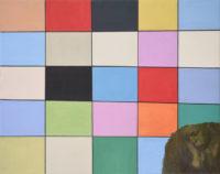 Ákos Birkás, Beschädigtes Bild - Ostkunst (Damaged Work -Eastart ), oil on canvas, 2015, 80x100 cm