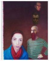 Akos Birkas Vier Heilige 2014 oil on canvas Uwe Walter, Courtesy Galerie Eigen und Art